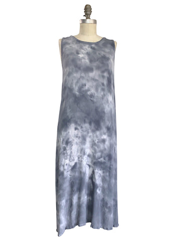 Sleeveless A-Line Dress (Rayon Gauze) in Storm