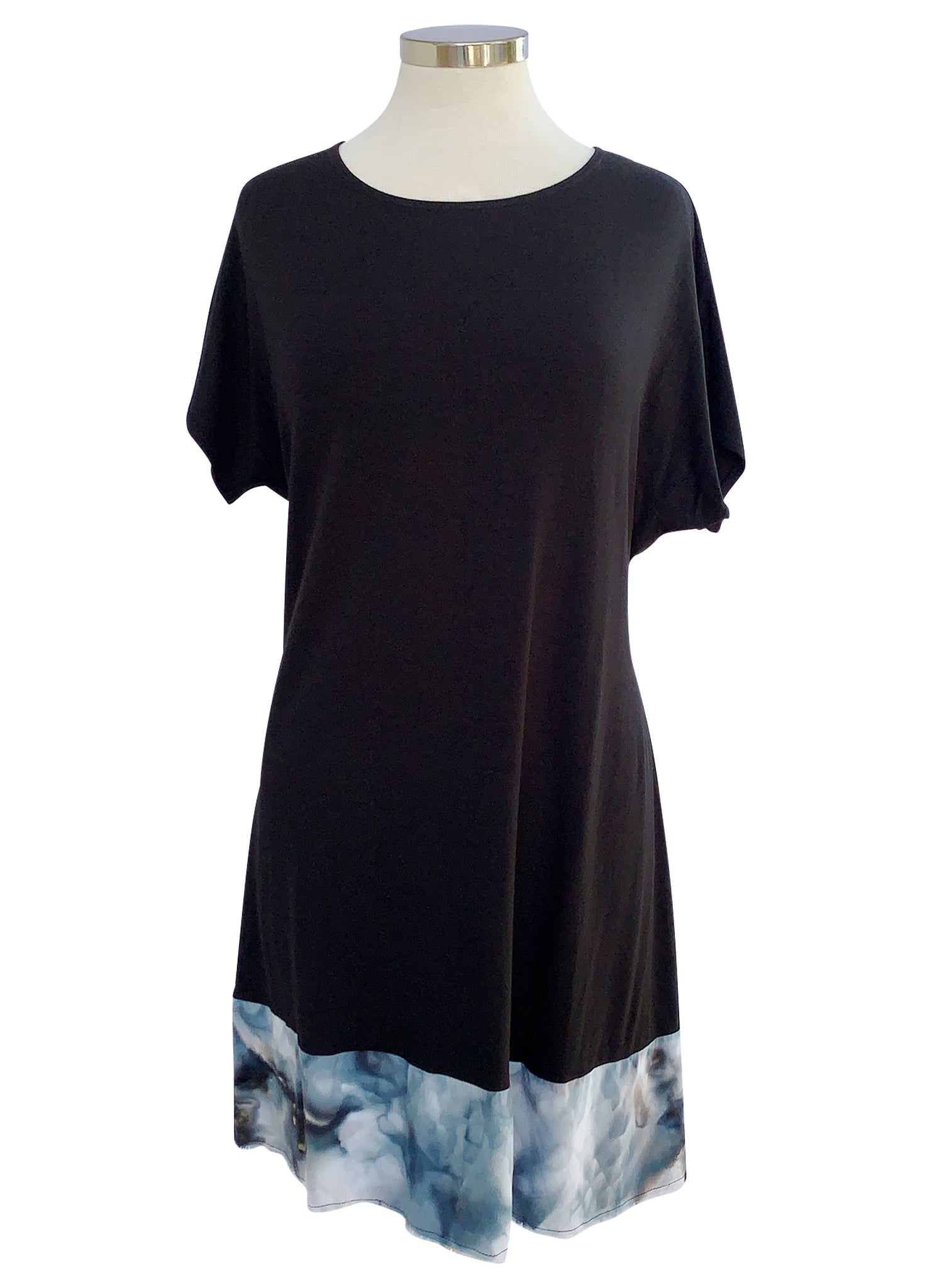 Mixed Fabric Dress - Top - Dyetology