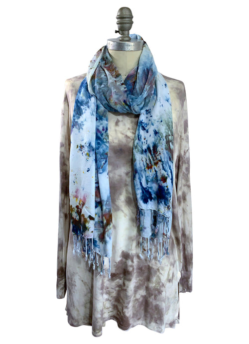Mocha Tunic and Meadow Scarf BUNDLE - Top - Dyetology