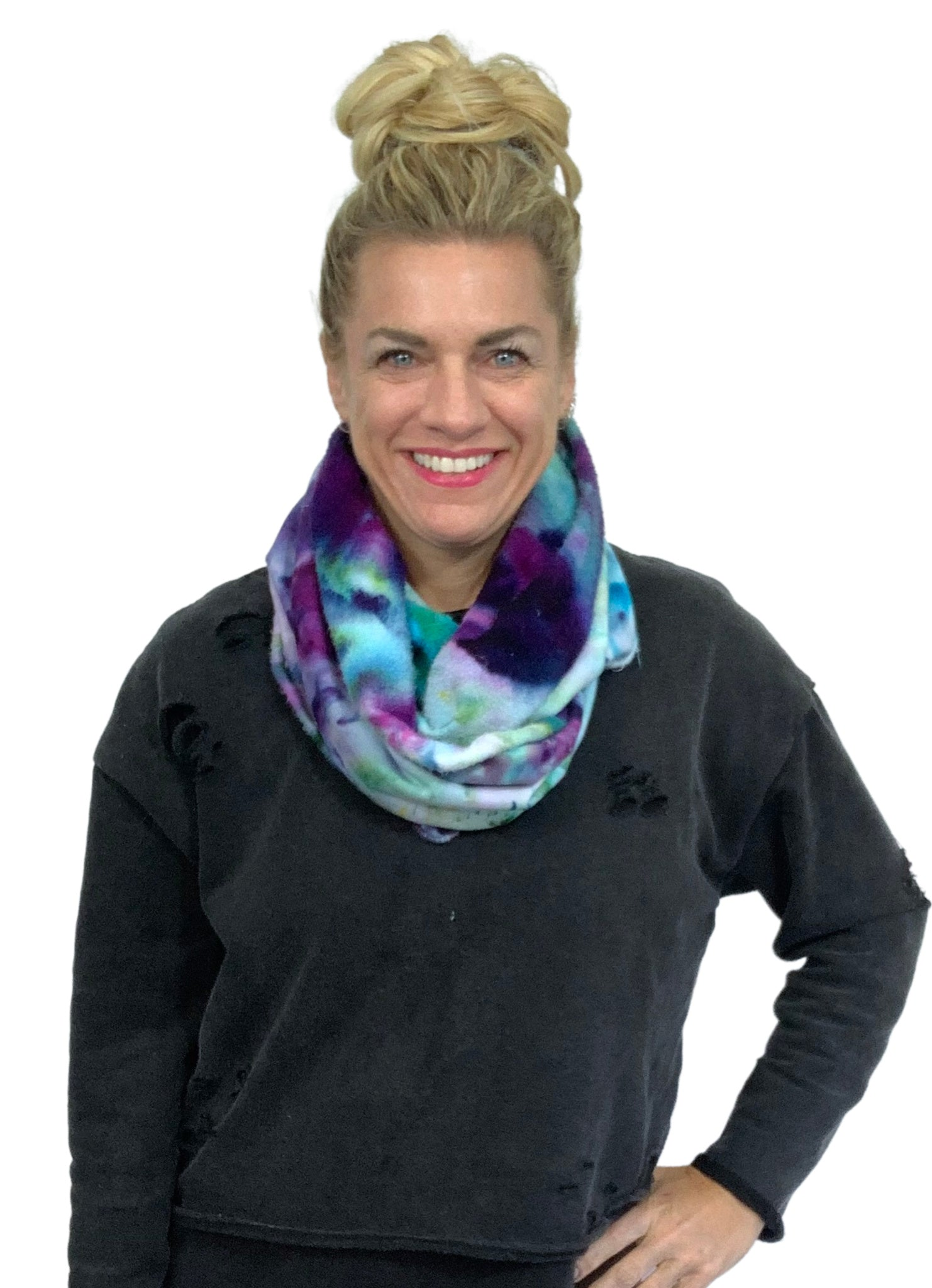 Hand Dyed Bamboo Fleece Scarf in