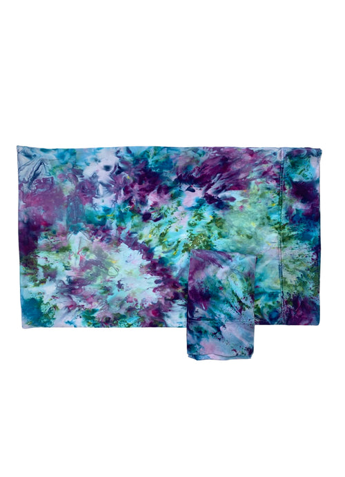 "Hand-Dyed Cotton Sateen Pillow Case Set in ""Monet's Garden"" - Dyetology"