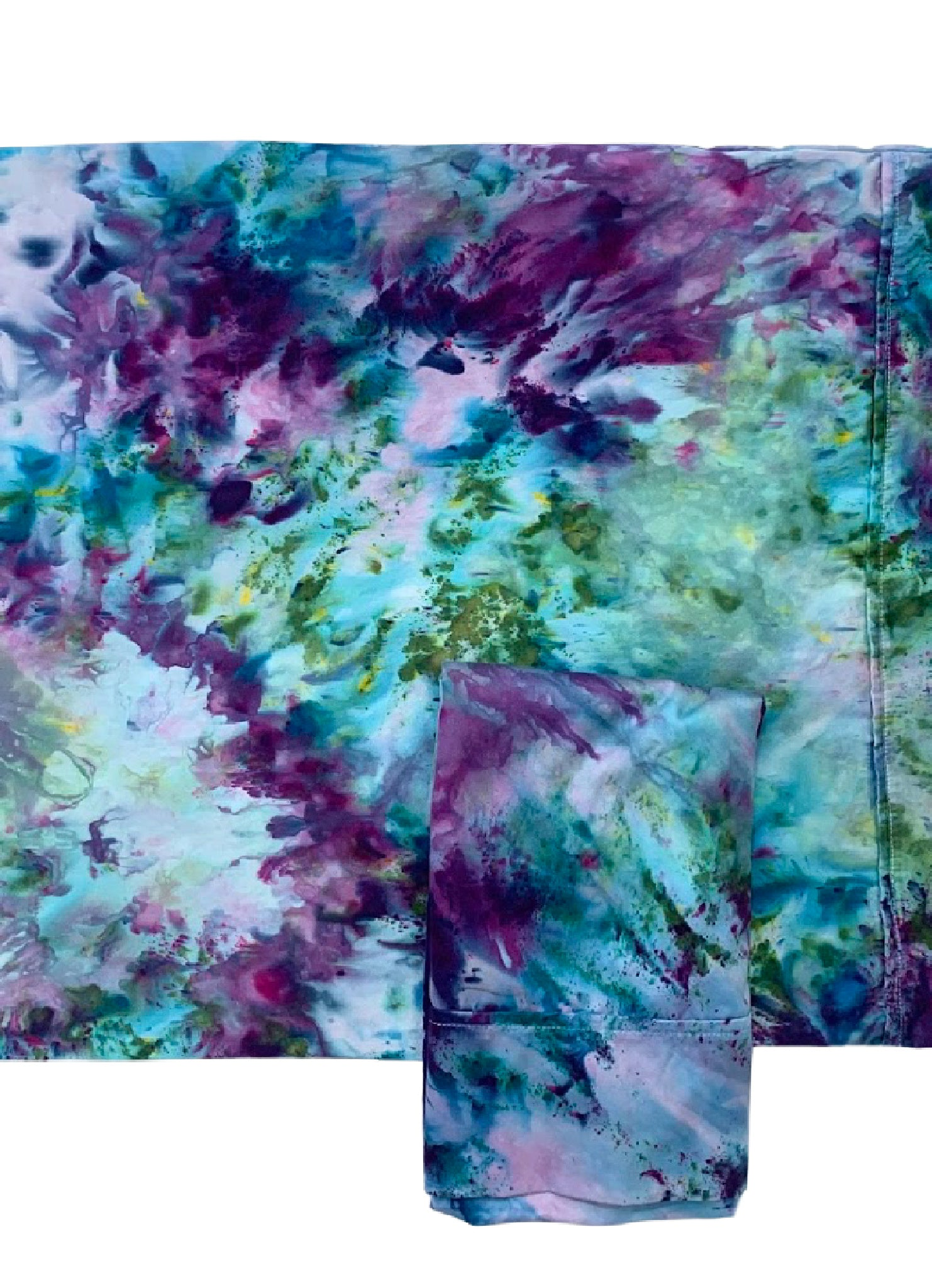 Hand-Dyed Cotton Sateen Pillow Case Set in