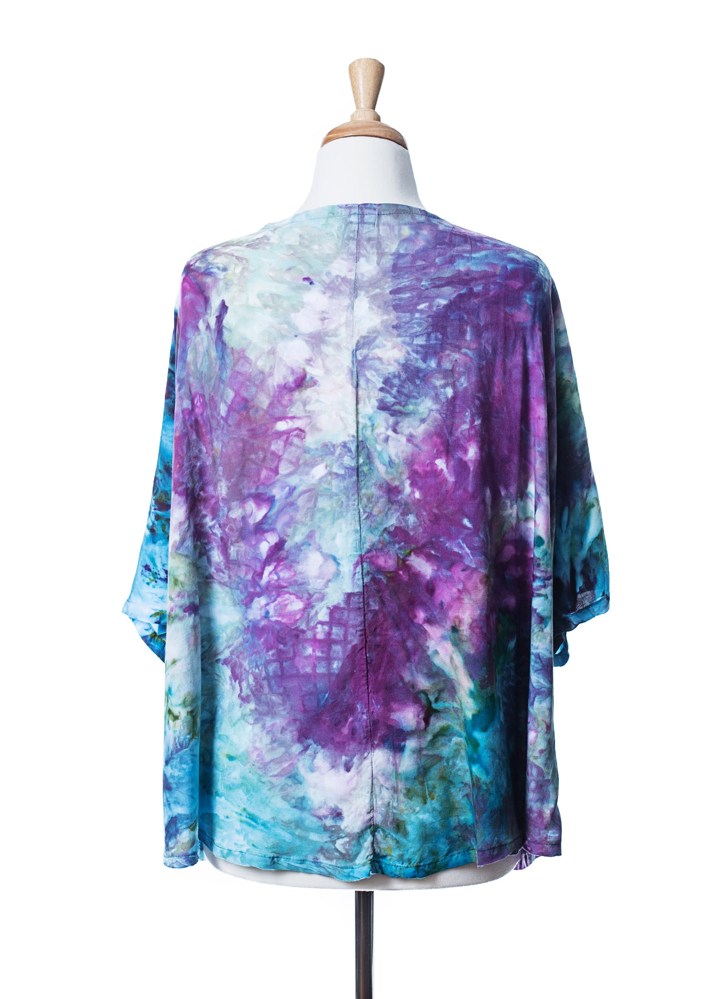 Hand Dyed Easy Rayon Shirt in Monet's Garden - Dyetology