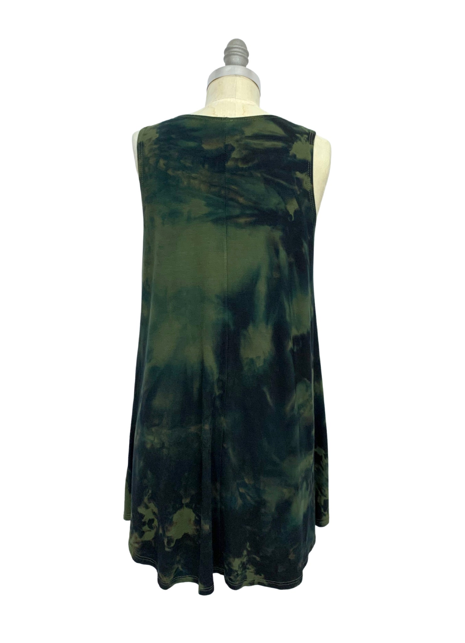 A-Line Tunic Tank in Olive & Black