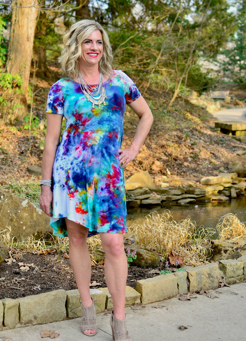 The Perfect Short Sleeve Dress in Daydream - Dyetology