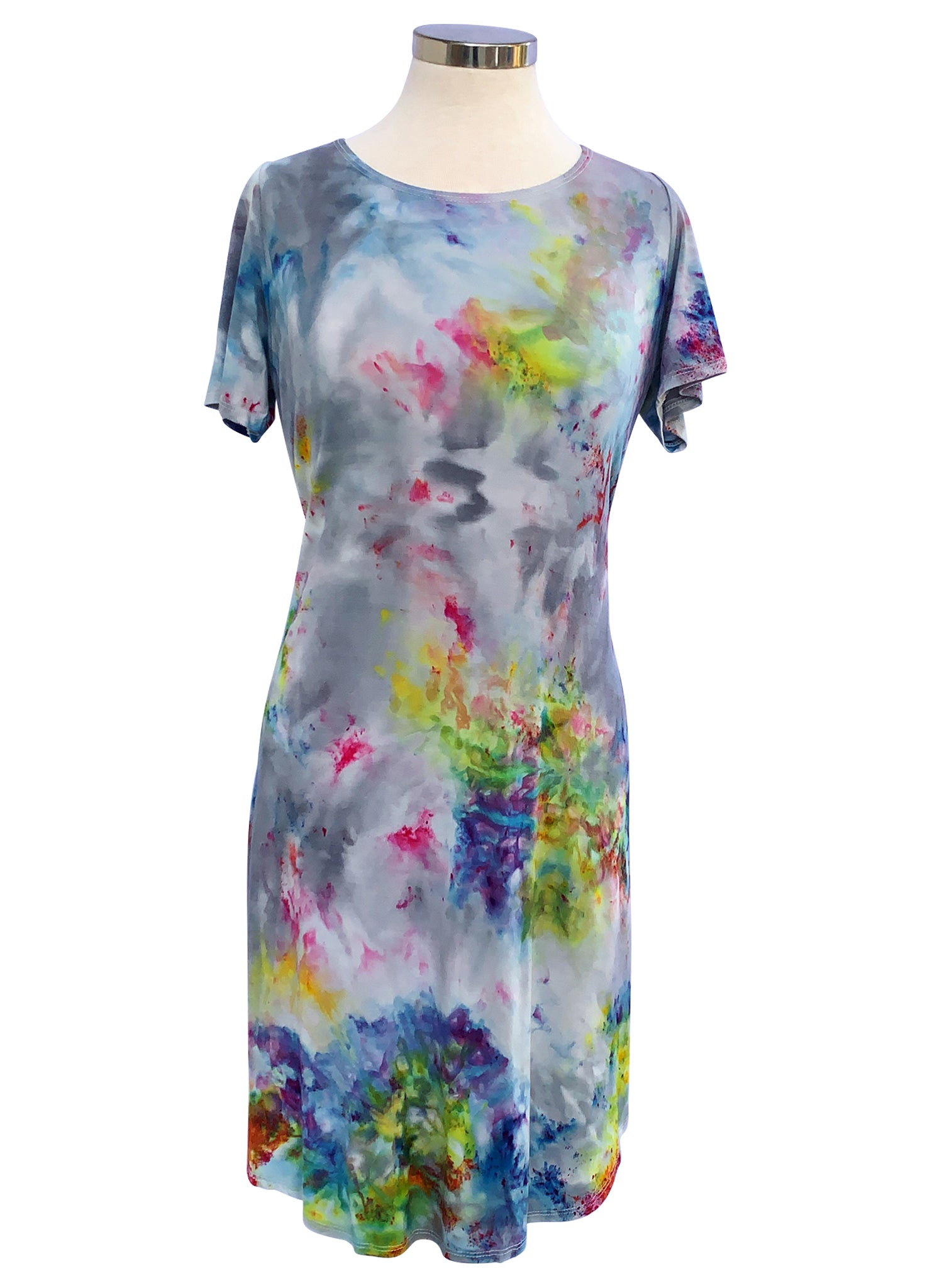 The Perfect Short Sleeve Dress in Candy Land - Dress - Dyetology
