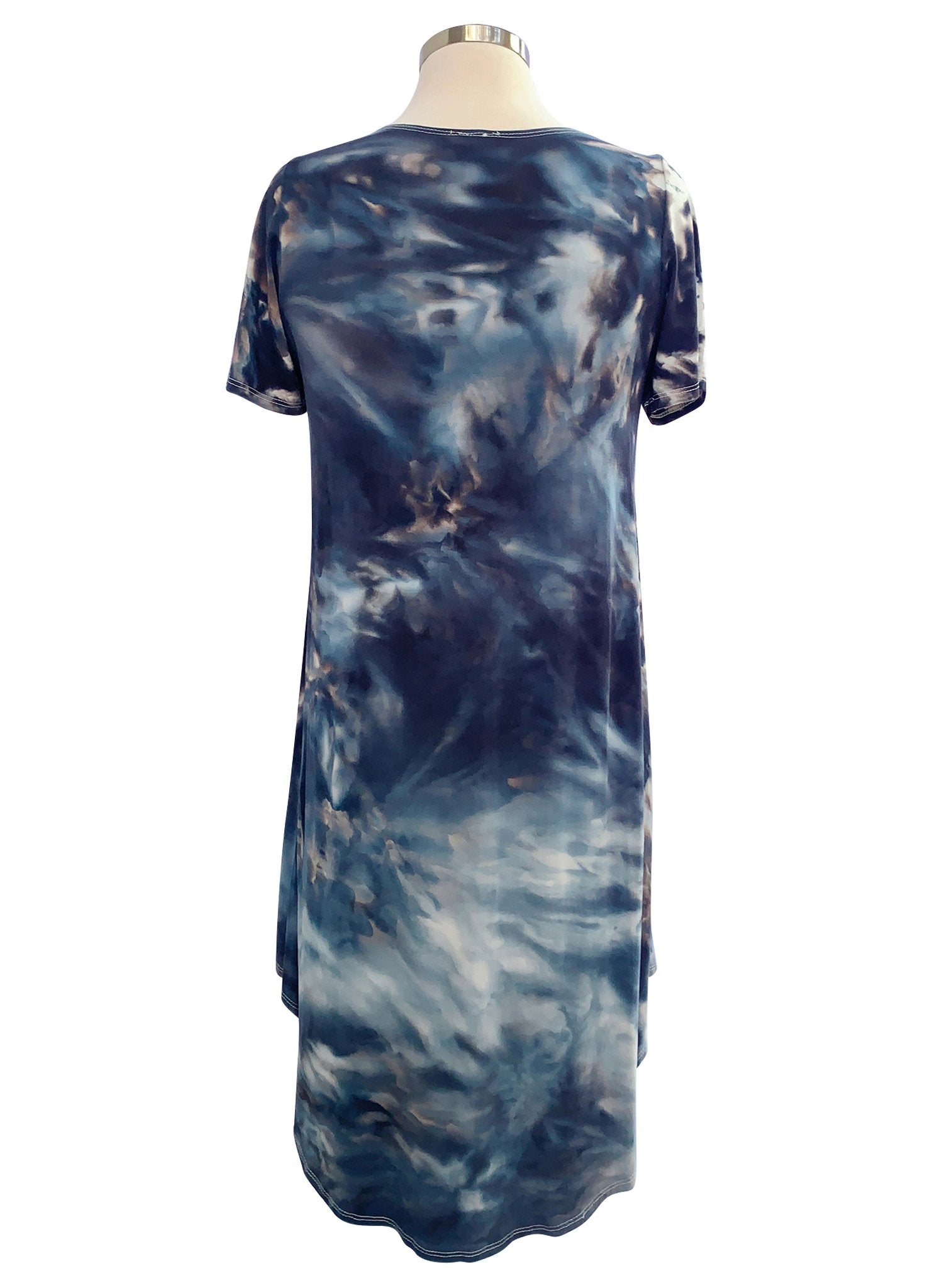 The Perfect Short Sleeve Dress in Moon Stone - Dress - Dyetology