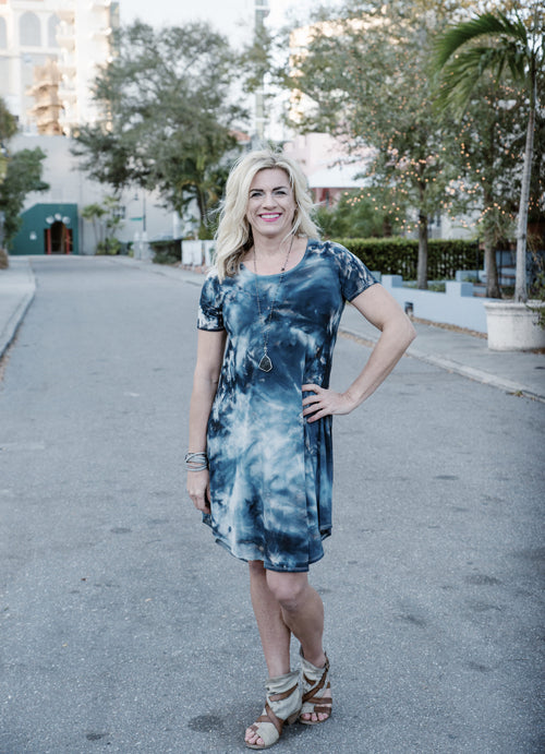 The Perfect Short Sleeve Dress in Moon Stone - Dyetology