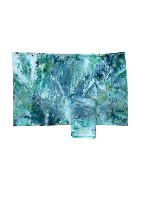 "Hand-Dyed Cotton Sateen Pillow Case Set in ""Sea Glass"" - Dyetology"