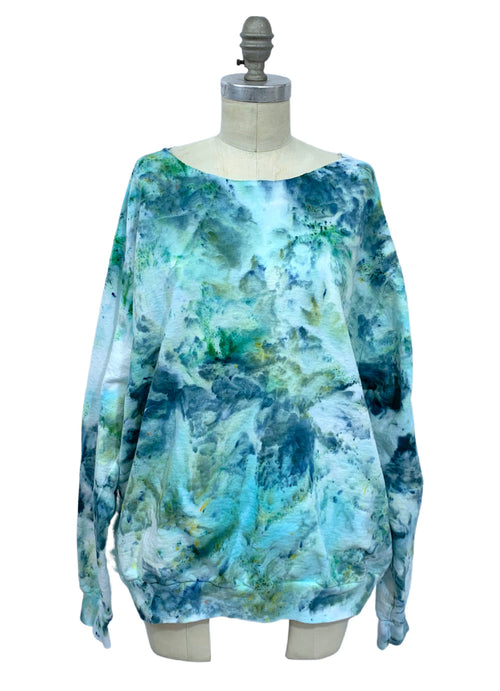 Hand Dyed Perfect Sweatshirt in Sea Glass - Limited Release - Top - Dyetology