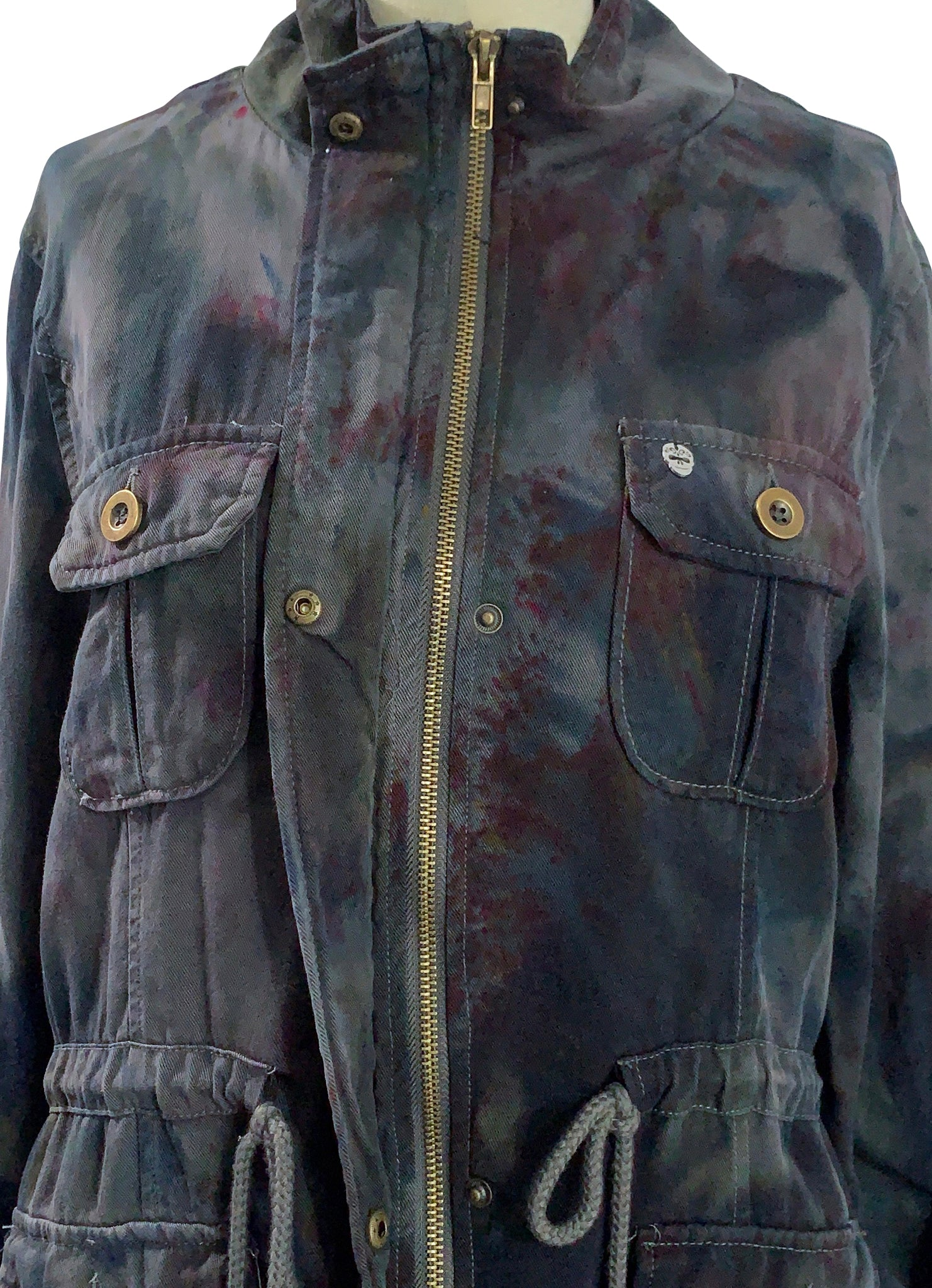 Small Hand-Dyed Tencel Utility Jacket -