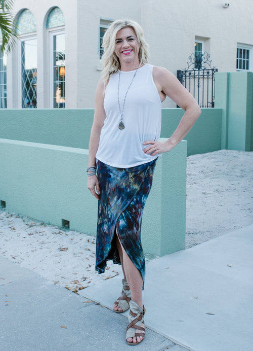 Split Hem Maxi Skirt in A Night Out - Maxi Skirt - Dyetology