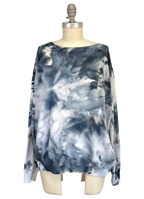 Hand Dyed Perfect Sweatshirt in Moon Stone - Limited Release - Top - Dyetology