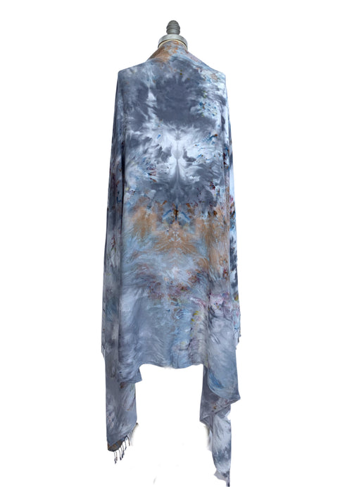 "Blanket-Sarong Scarf in ""Whisper"" - Blanket-Sarong Scarf - Dyetology"