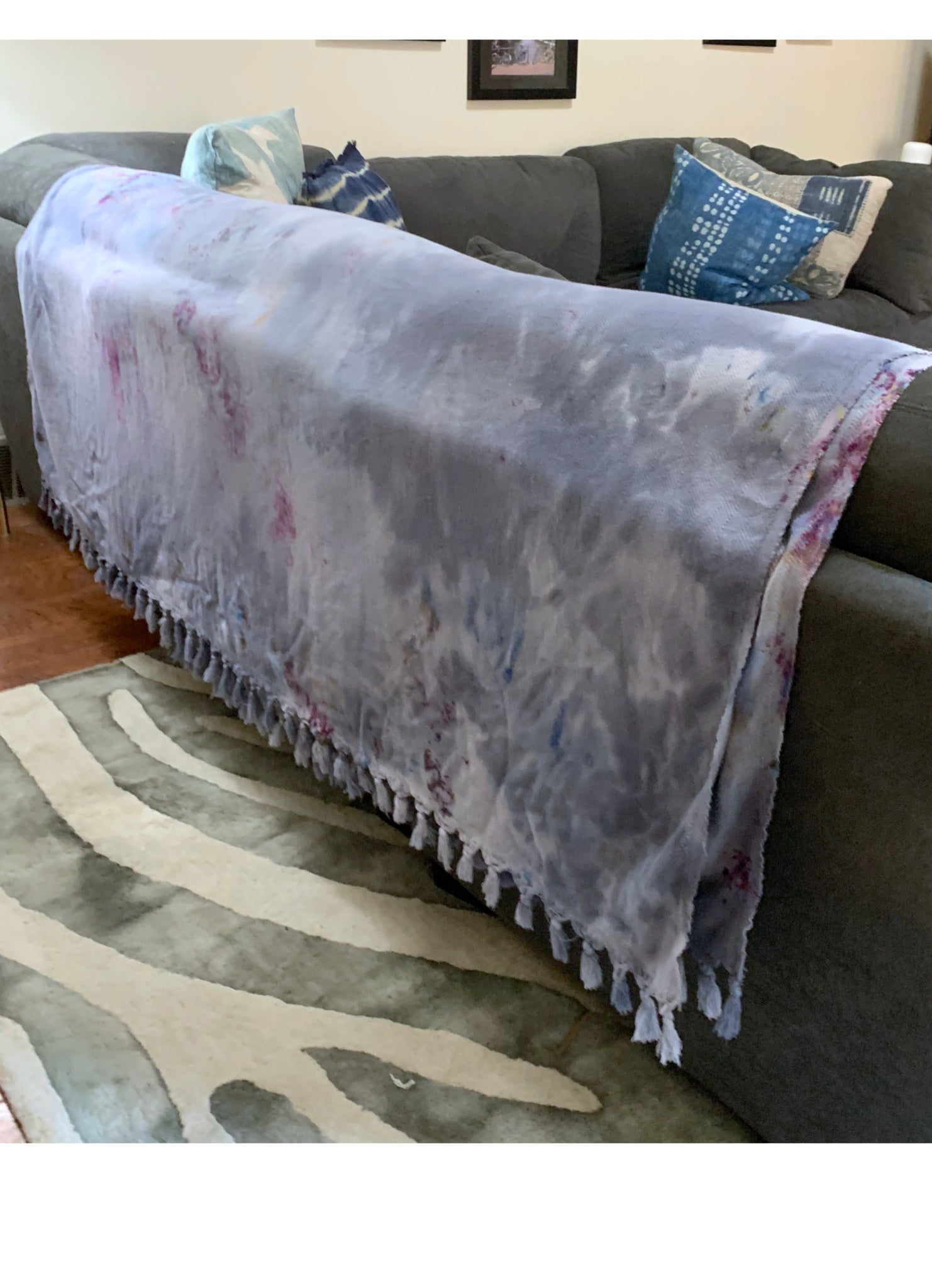 Hand Dyed Turkish Cotton Oversized Blanket - Dyetology