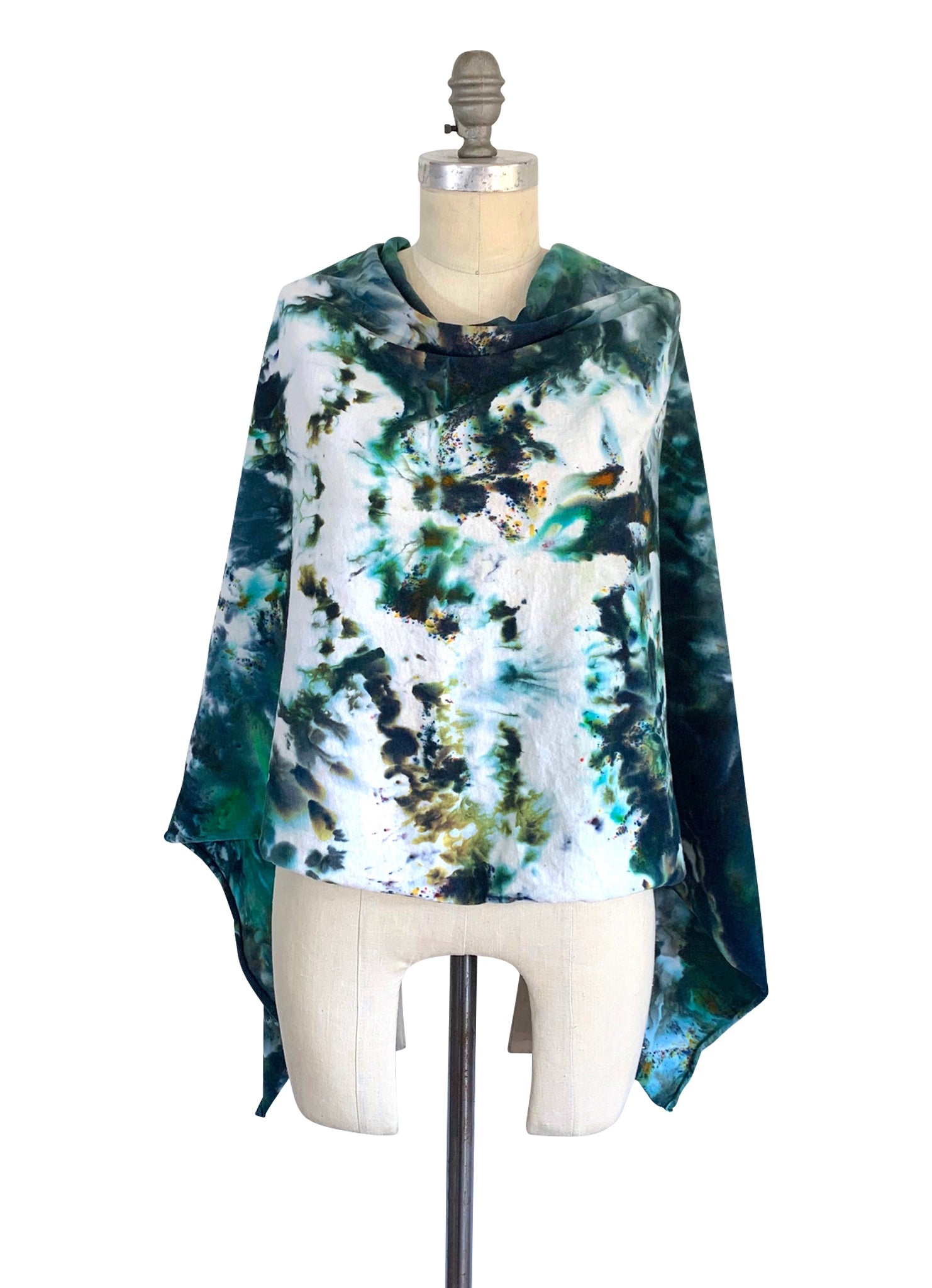 5 in 1 Poncho in Woodland Camo - Top - Dyetology