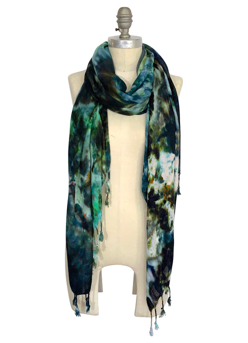 Open Weave Scarf with Fringe - Woodland Camo (Limited Edition)