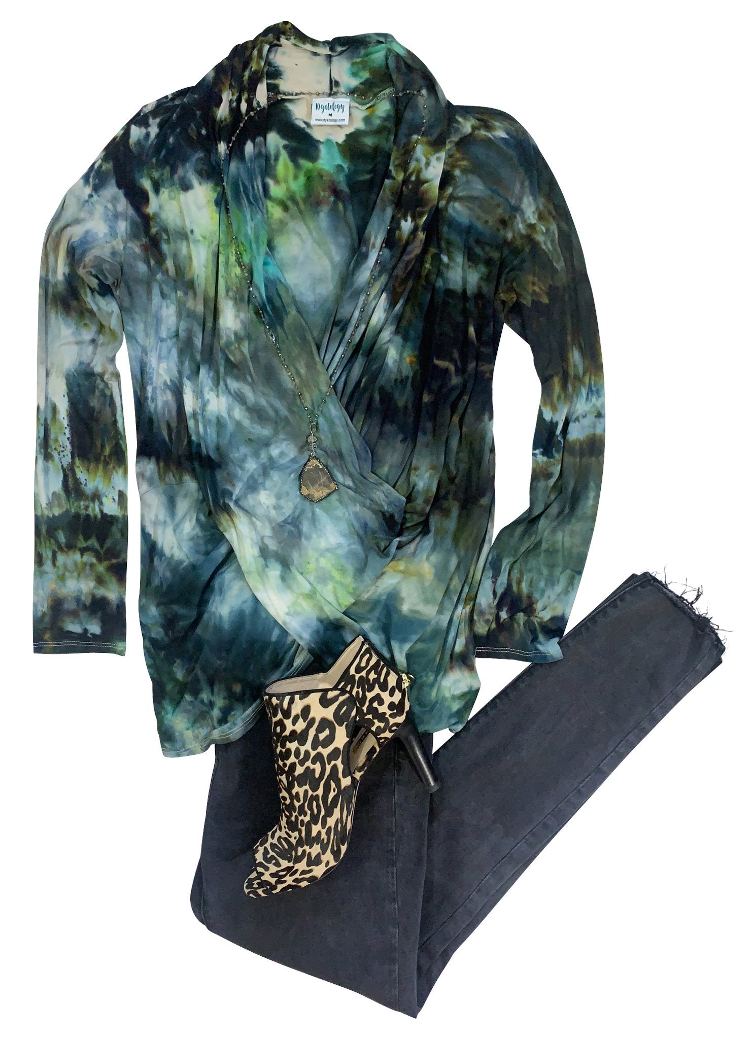Criss Cross Blouse in Woodland Camo - Top - Dyetology