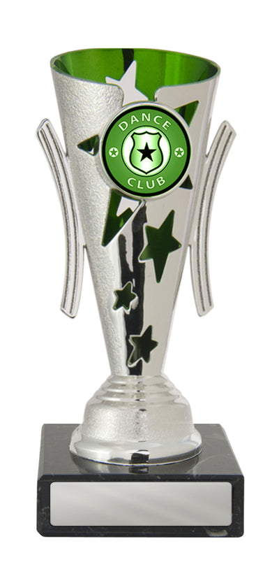 Dance Trophy - Gala Cup - Green & Silver - D17-0301 - 155mm