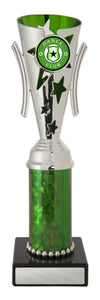 Dance Trophy - Gala Cup - Green & Silver - D17-0304 - 233mm