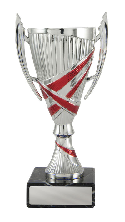 Bella Cup - Silver & Red - D17-1208 (160mm)