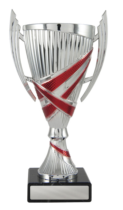 Bella Cup - Silver & Red - D17-1210 (200mm)
