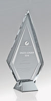 Silver Ice - Arrow - Clear Glass/Silver Zinc Alloy Base