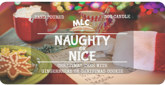 Naughty or Nice - Color Revealing Candle - Hand Poured - Seasonal - 8oz Soy Candle