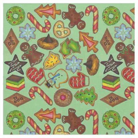 Christmas Cookies Holiday Fabric