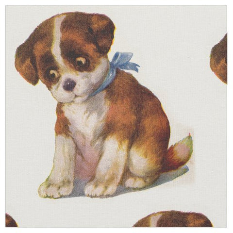 Adorable Puppy Dog Fabric