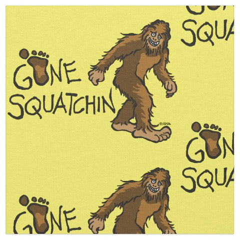 Gone Squatchin' Bigfoot Fabric