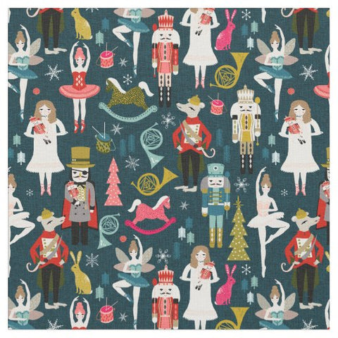Nutcracker Ballet Christmas Fabric