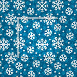 Winter Blue Snowflakes Christmas Holiday Fabric