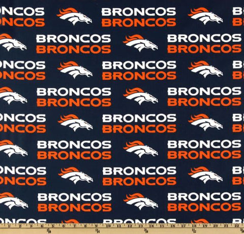 Denver Broncos NFL Cotton Broadcloth Fabric (by the yard)