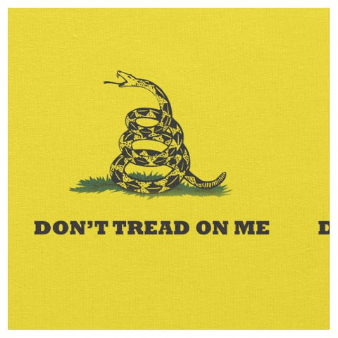 Don't Tread on Me Gadsen Flag Fabric