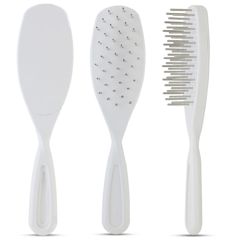 Untangler Pet Brush with smooth rotating stainless-steel teeth. T906PET. Customer Favorite!