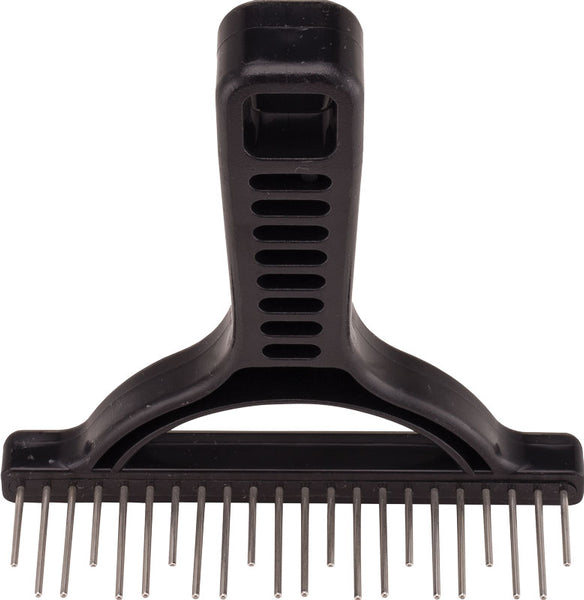 Untangler Professional Shedding Rake with silky smooth, stainless-steel rotating staggered teeth Global Best Seller~