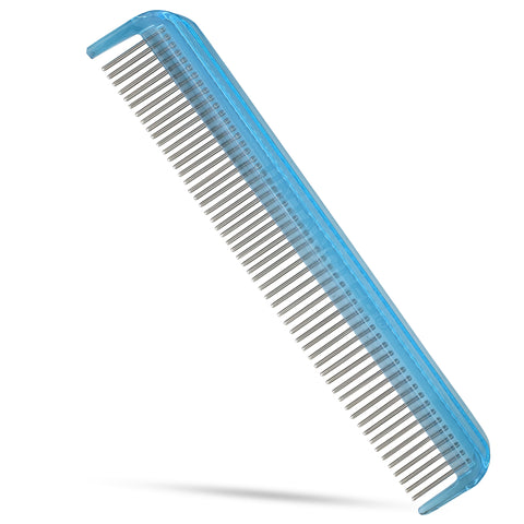 "7"" Dual-Spaced Pet Comb -smooth rotating stainless-steel teeth easily clears mats"
