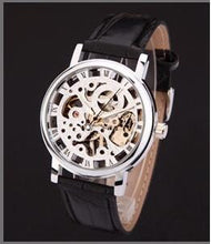 Silver Gold Tone Mens Watch Leather band