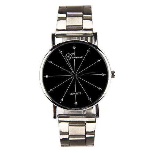 Mens Contracted Steel Band Watch