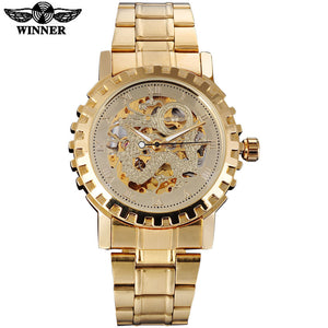Mens Gold Watch Steel Fashion Wrist Watch