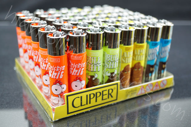 "48x (Full Display) Clipper Refillable Full-Size Lighters ""Animals"" Collection"