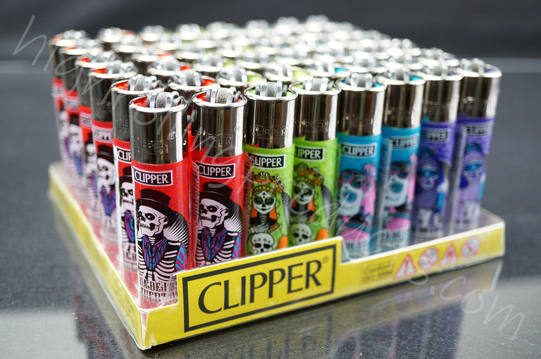 "48x (Full Display) Clipper Refillable Full-Size Lighters ""Zombie 2"" Collection"
