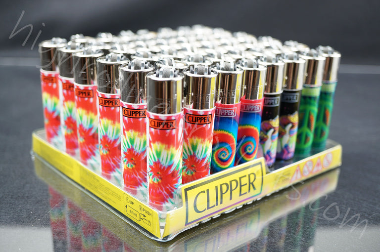 "48x (Full Display) Clipper Refillable Full-Size Lighters ""Trip"" Collection"