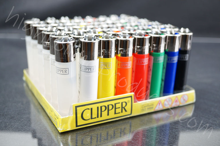 "48x (Full Display) Clipper Refillable Full-Size Lighters ""Solid Colors"" Collection"