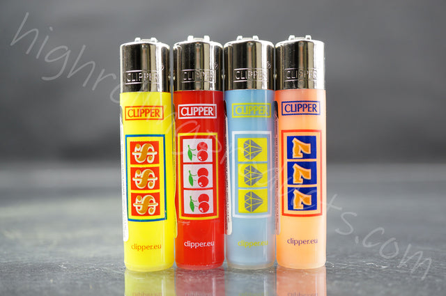"4x Clipper Mini Size Refillable Lighters ""Lucky"" Collection"