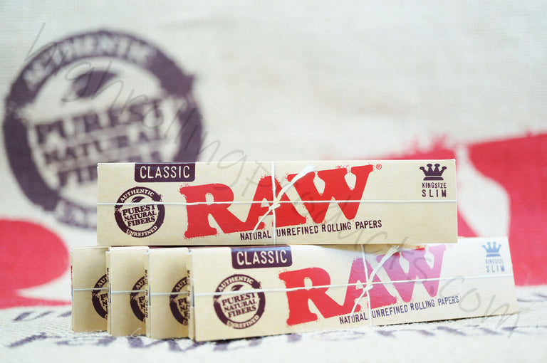 5 Packs(32 in Each Pack) Raw Classic King Size Rolling Paper