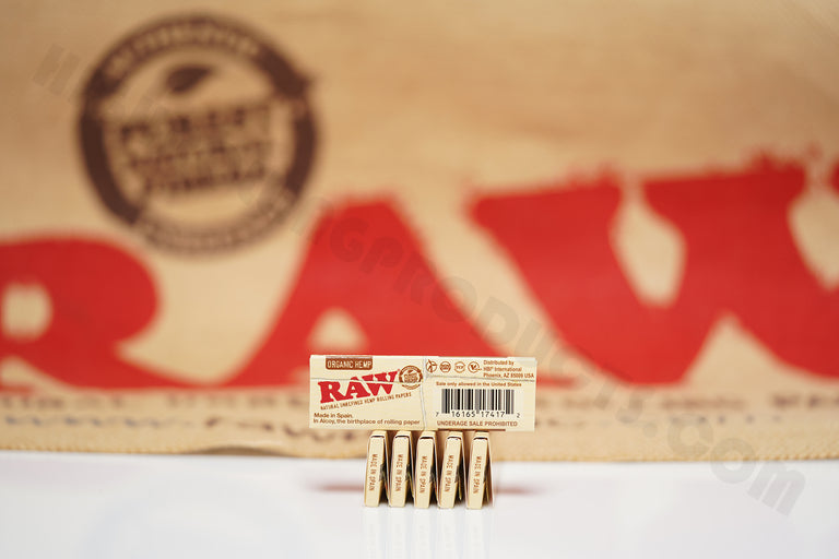 6 Packs Of AUTHENTIC Raw Organic Rolling Paper 1 1/4 (50 Leaves Per Pack)