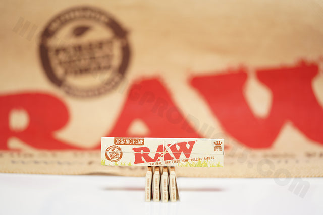 5 Packs Of AUTHENTIC Raw Organic Rolling Paper King Size (32 Leaves Per Pack)