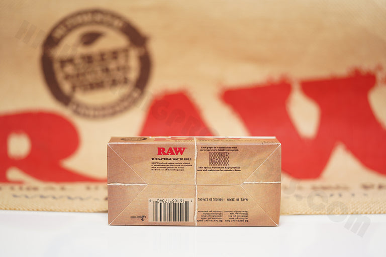 1x Full Box Of AUTHENTIC Raw Classic Rolling Paper 1 1/2 (25 Packs, 32 in Each Pack)
